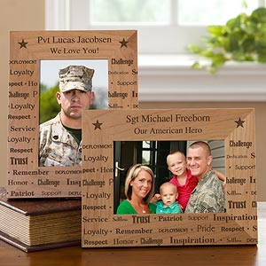 Personalized Picture Frames - Military Dedication - 10800