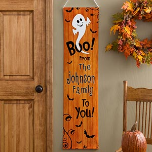 Personalized Halloween Door Banner - Happy Halloween - 10816
