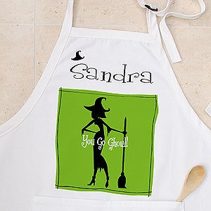 Personalized Halloween Aprons - Witch With Attitude - 10817
