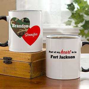 Personalization Mall Personalized Military Coffee Mugs - Hearts & Camo at Sears.com