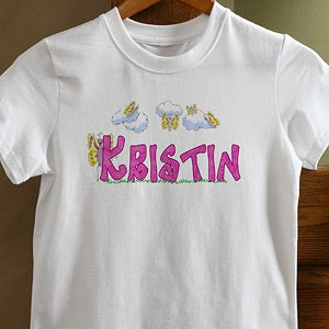 Personalization Mall Girls Personalized T-Shirts - Butterfly Garden at Sears.com