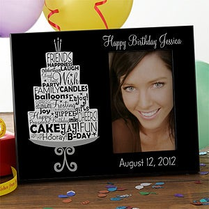 Personalized Birthday Picture Frames - Birthday Cake - 10846