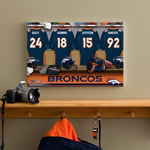 Personalized Denver Broncos NFL Locker Room Canvas Print - 10847