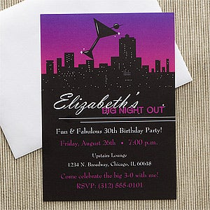 Personalized Birthday Party Invitations - Fun In The City - 10848