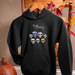 Personalization Mall Personalized Girls Halloween Sweatshirts - Skulls at Sears.com