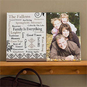 Personalized Photo Canvas Art - Our Family - 10885