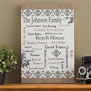 Personalized Canvas Art - Our Family - 10886