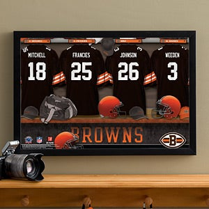 Personalized Cleveland Browns NFL Locker Room Canvas Print - 10887