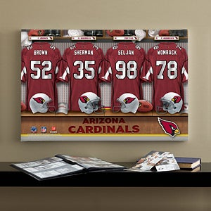 Personalized Arizona Cardinals NFL Locker Room Canvas Print - 10889
