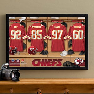 Personalized Kansas City Chiefs NFL Locker Room Canvas Print - 10891