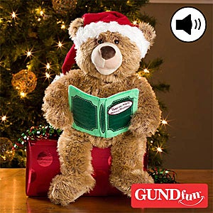 GUND Recordable Christmas Teddy Bear - Twas The Night Before Christmas - 10906