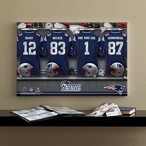 Personalized New England Patriots NFL Locker Room Canvas Print - 10907