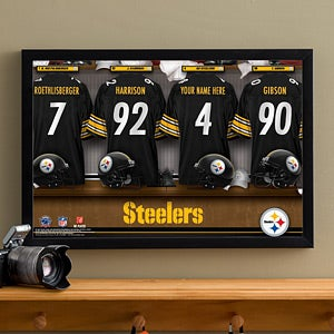 Personalized Pittsburgh Steelers NFL Locker Room Canvas Print - 10914