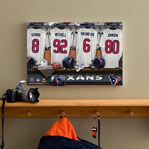 Personalized Houston Texans NFL Locker Room Canvas Print - 10915