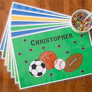 Boys Personalized Meal Time Placemat - 10940