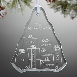 Personalized Christmas Ornaments - Presents Under The Christmas Tree - 10970