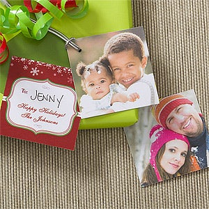 Personalized photo gift tags happy holidays happy holidays personalized photo gift tags negle Images