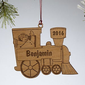 Personalized Train Christmas Ornament - Holiday Train - 10975