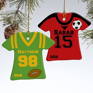 Personalized Christmas Ornaments - Sports Jersey - 10976