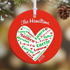 Personalized Christmas Ornaments - Heart of Love - 10987