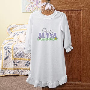 Personalization Mall Personalized Kids Easter Clothes - Bunny Ears Nightgown at Sears.com