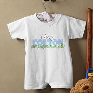 Personalization Mall Personalized Easter Baby Clothes - Bunny Ears Baby Romper at Sears.com