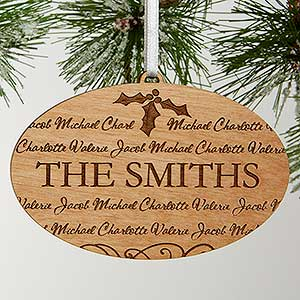 Personalized Christmas Ornaments - Family Is Forever - 11000