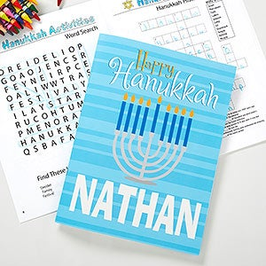 Personalized Hanukkah Coloring Book - 11007