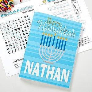 Personalized Hanukkah Coloring Book - 11007