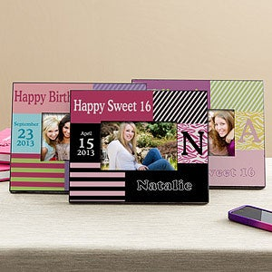 Personalized Birthday Picture Frames - Trendy Birthday Girl - 11011