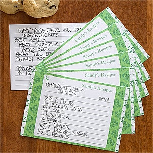 Personalized Recipe Cards - Damask - 11027