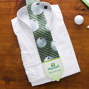 Avid Golfer Corporate Logo Men's Tie - 11047