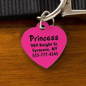 Engraved Pet ID Tags - You Name It - 11051