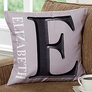 Personalized Throw Pillows - Monogram - 11113