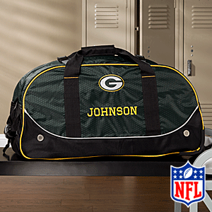 Personalized Green Bay Packers Rolling Duffel Bags - 11116