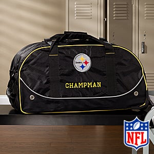 Personalized Pittsburgh Steelers Rolling Duffel Bags - 11122