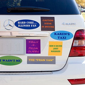 Personalized Bumper Sticker Magnets You Name It - Custom made bumper stickers