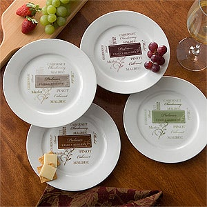 Personalized Dinner Party Plates - Wine Please - 11128