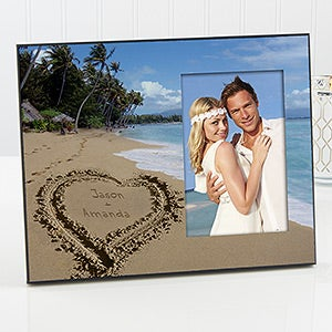 personalized picture frames tropical beach