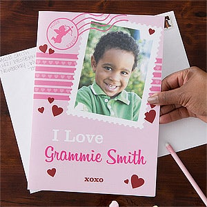 Personalized Photo Valentine's Day Cards - Oversized Valentine - 11141
