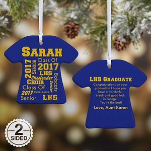 Personalized Christmas Ornaments - School Spirit - 11154