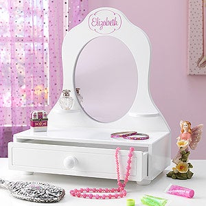 Kids Personalized Vanity Mirror   Whou0027s The Fairest   11163D