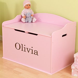 Personalized toy box for girls kids gifts personalized toy boxes 11165d negle Images