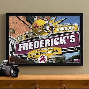 Arizona State Sun Devils Collegiate Football Personalized Pub Sign Canvas - 11169