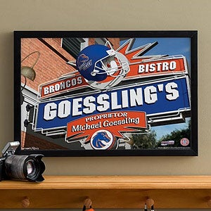 Boise State Broncos Collegiate Football Personalized Pub Sign Canvas - 11175