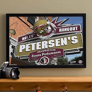 Florida State Seminoles Collegiate Football Personalized Pub Sign Canvas - 11176