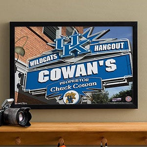 Kentucky Wildcats Collegiate Football Personalized Pub Sign Canvas - 11182