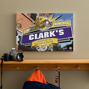 LSU Tigers Collegiate Collegiate Football Personalized Pub Sign Canvas - 11183