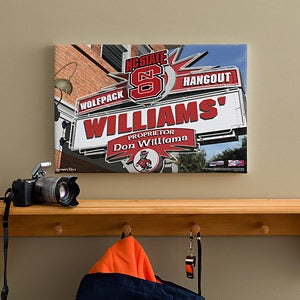 North Carolina State Wolfpack Collegiate Football Personalized Pub Sign Canvas - 11199