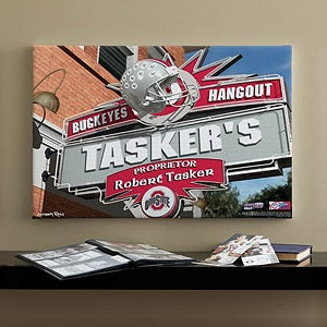 Ohio State Buckeyes Collegiate Football Personalized Pub Sign Canvas - 11200